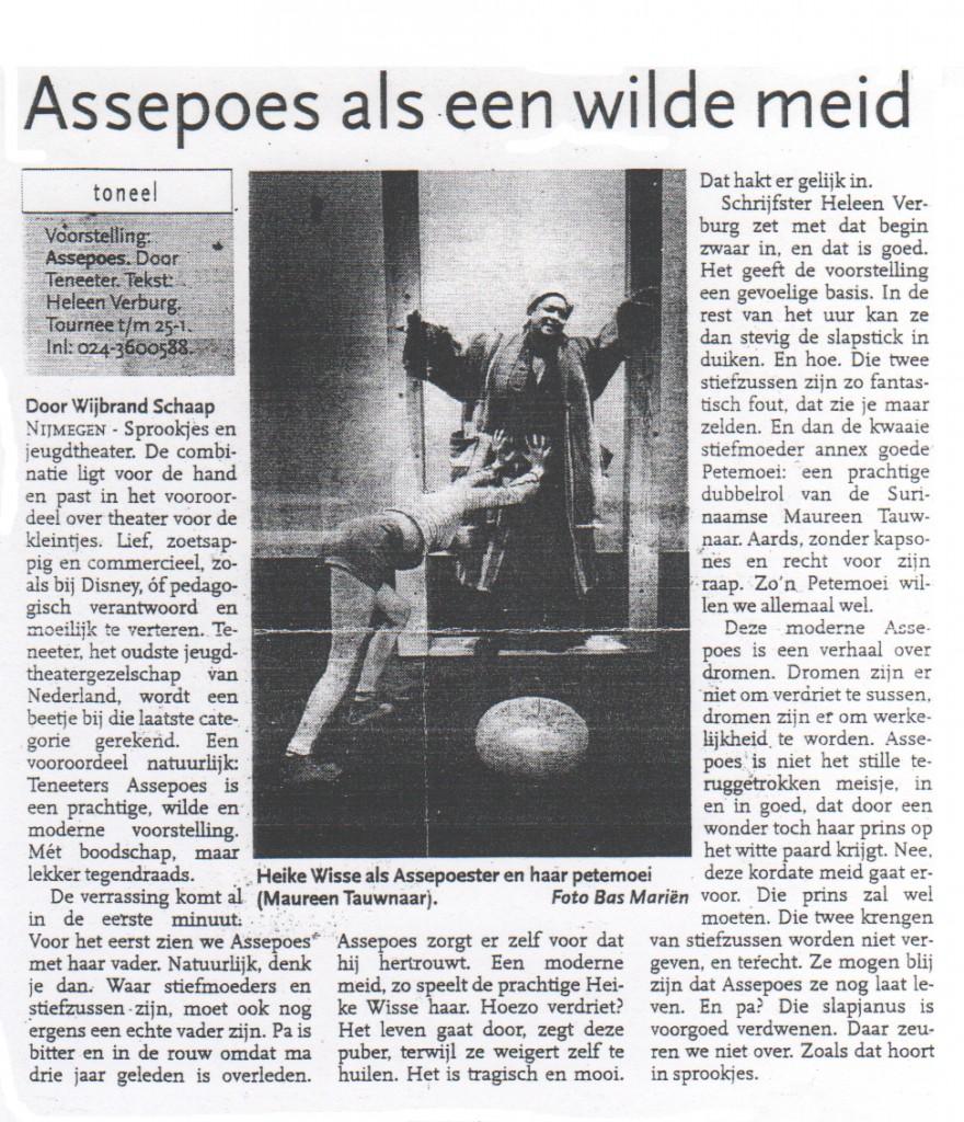 Assepoes als een wilde meid