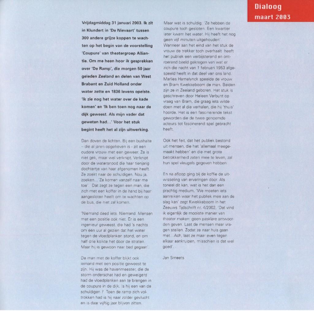 Dialoog Maart '03