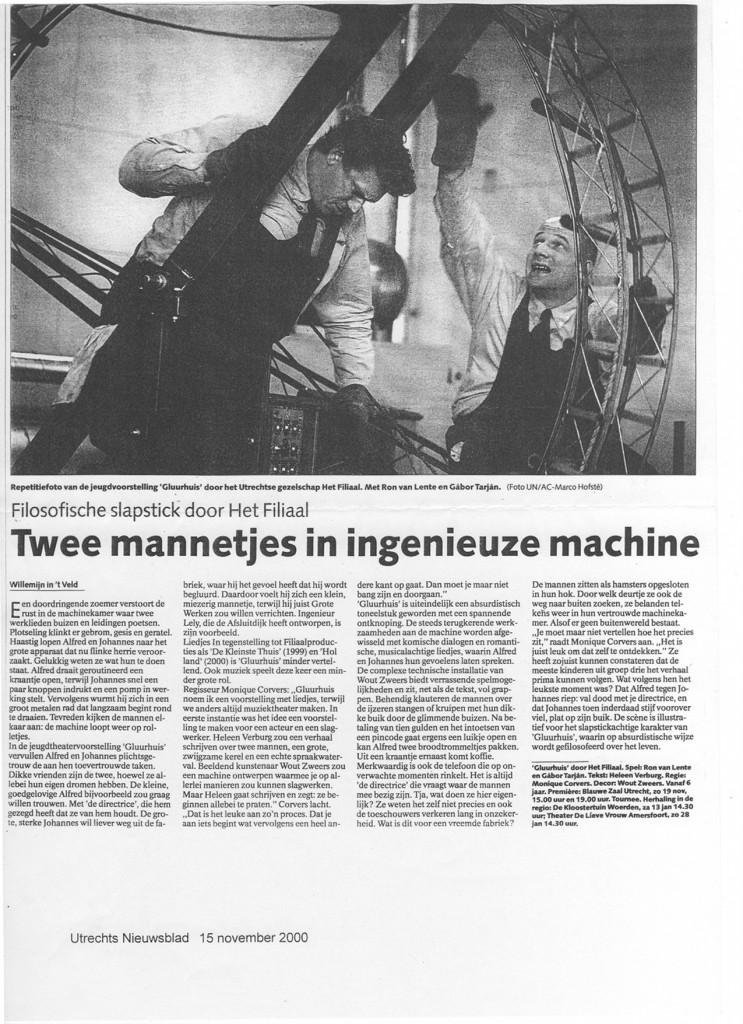 Twee mannetjes in ingenieuze machine