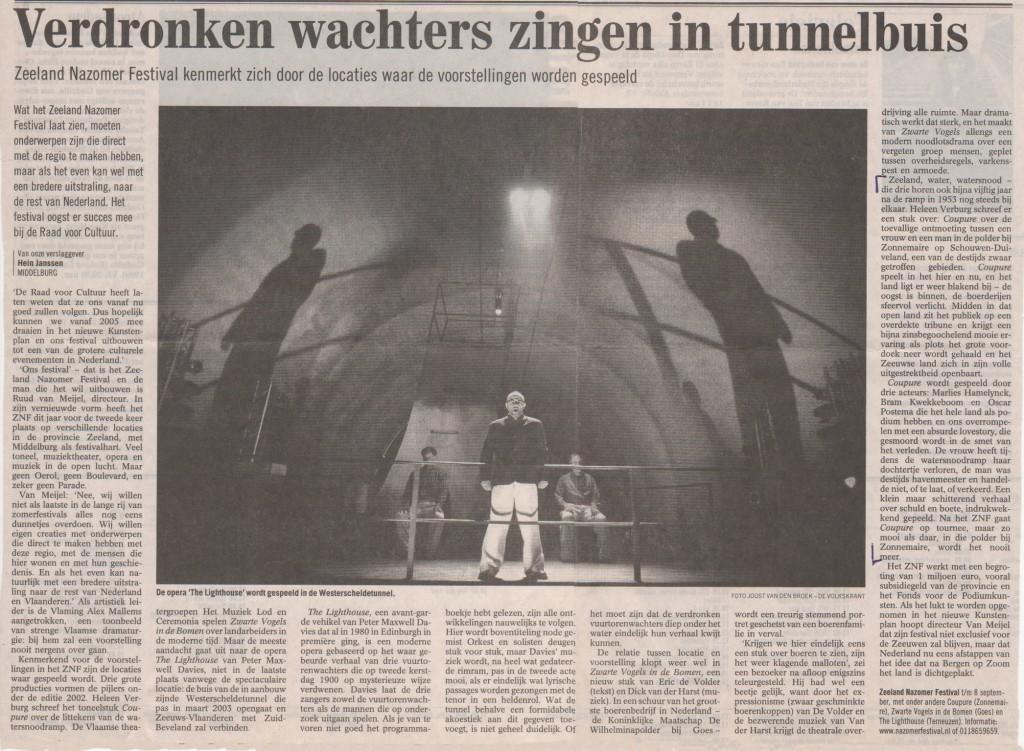 Verdronken wachters zingen in tunnelbuis
