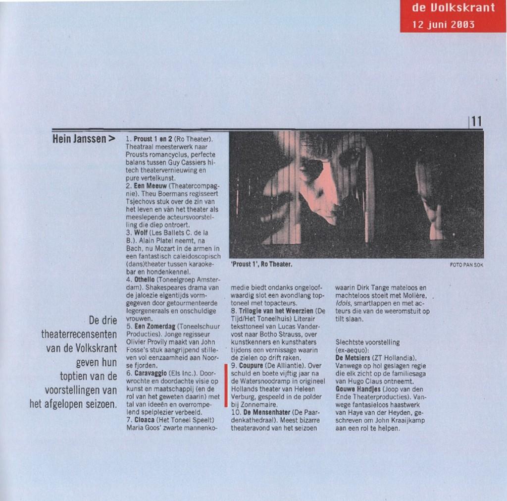 de Volkskrant Juni '03