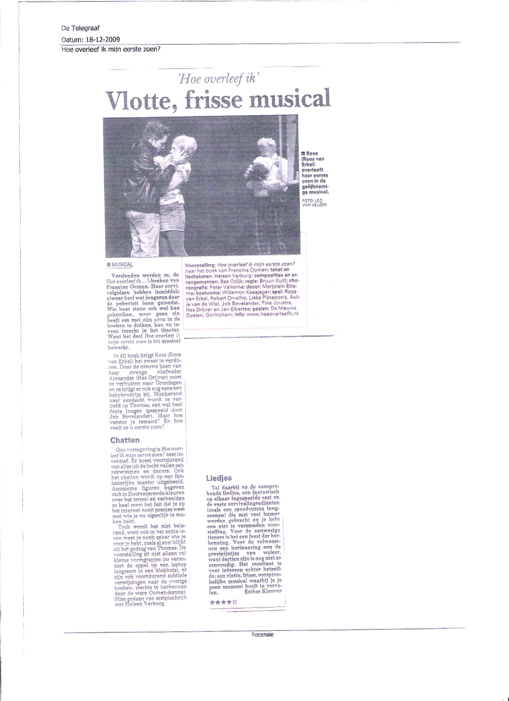 De Telegraaf 18 december 2009