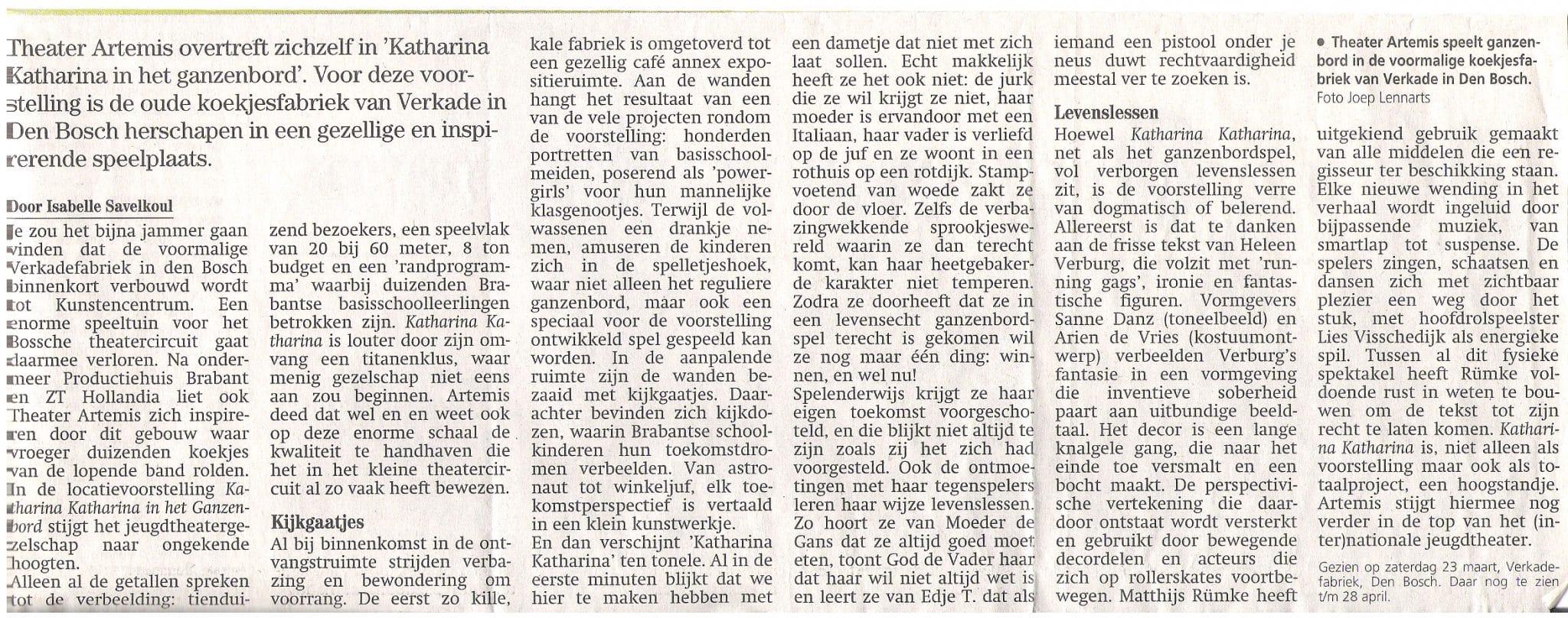 Noord Brabants Dagblad 25 maart 2002