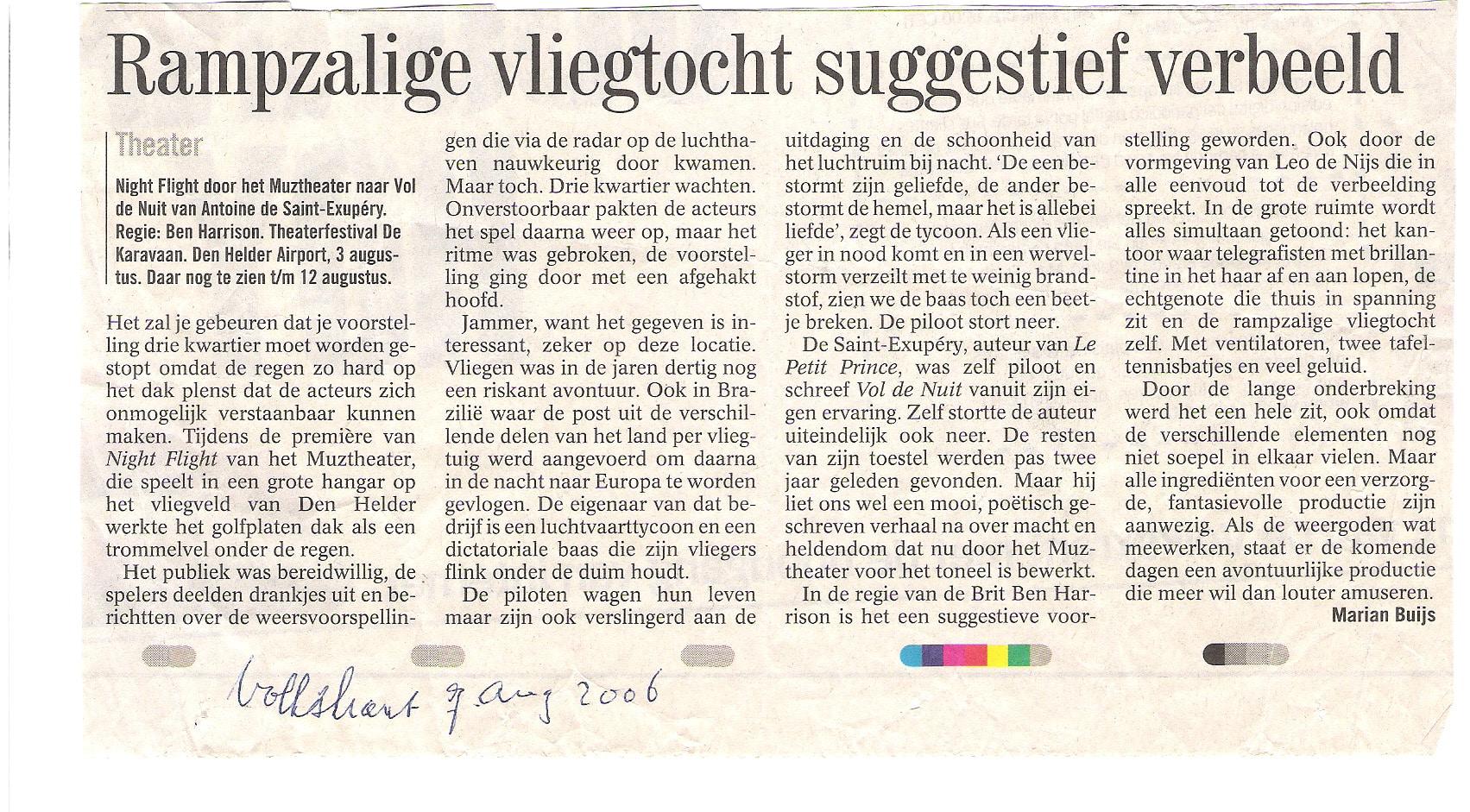 Volkskran 7 augustus 2006