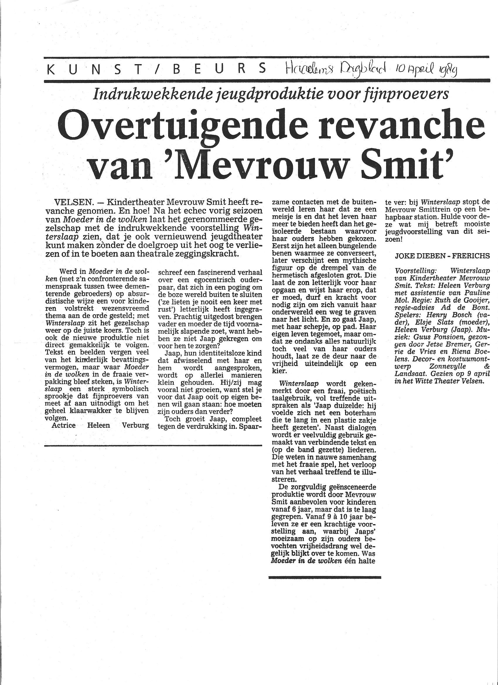 Haarlems Dagblad 10 april 1989